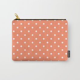 Peach Polka Dots Carry-All Pouch