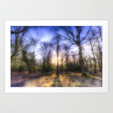 The Early Morning Pastel Forest Art Print
