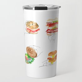 bagels are bae Travel Mug