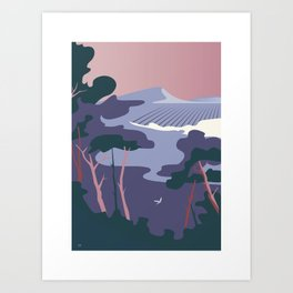 Paysage provence camargue Art Print