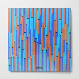 Paper Stripes - Color variation 2 Metal Print