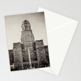 Down Town Buffalo NY city hall Stationery Cards