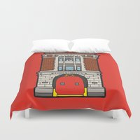 ghostbusters Duvet Covers featuring Ghostbusters Fire Station by evannave