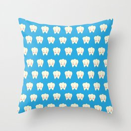 The Smiling Tooth Throw Pillow