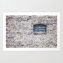 windows Stone walls Art Print