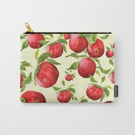 red apple in yellow background Carry-All Pouch
