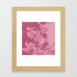 Pink Fractal Flowers Framed Art Print