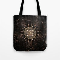 clockwork Tote Bags featuring Clockwork by CreativeByDesign