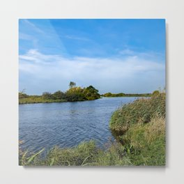 Windy day on the Norfolk Broads Metal Print