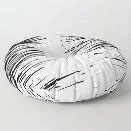 Splash Black and White Floor Pillow