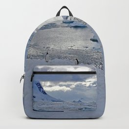 Gentoo Penguins on Ice Backpack
