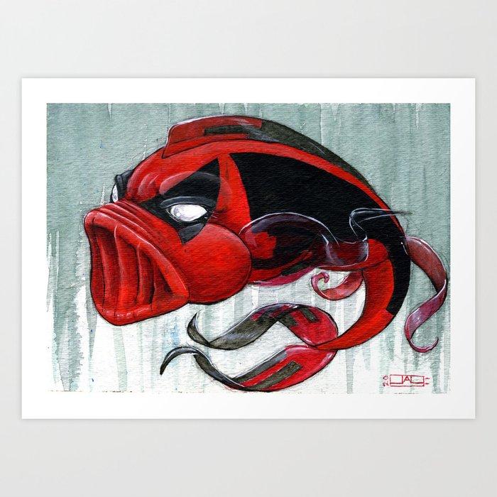 Koi Series Deadpool Art Print