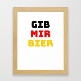 Beer Germany flag holiday gift Framed Art Print