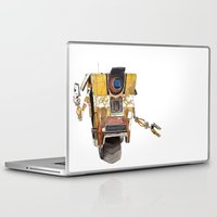 borderlands Laptop & iPad Skins featuring Borderlands Claptrap Watercolour by DifficultyEasy
