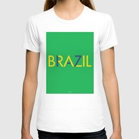brazil T-shirts featuring BRAZIL by try2benice