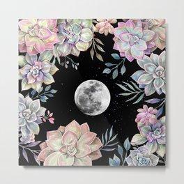 succulent full moon 4 Metal Print
