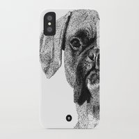 boxer iPhone & iPod Cases featuring Boxer by Nuria Galceran