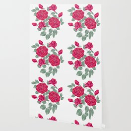 Red roses. Wallpaper
