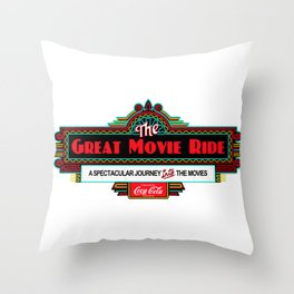Great Movie Ride Sign Throw Pillow