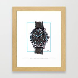 Glashutte Senator Chronograph Panorama Date Live Painting Framed Art Print