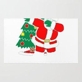 DABBING AROUND THE CHRISTMAS TREE T-SHIRT Rug