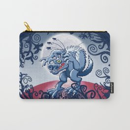 Werewolf Scratching Spooky Fleas Carry-All Pouch