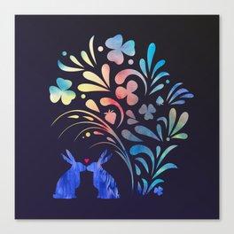 I Heart You / Midnight version Canvas Print