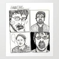 HANNIBAL- WILL EATS AN APPLE Art Print