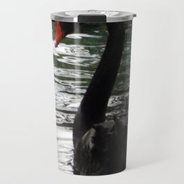Black swan on the water Travel Mug