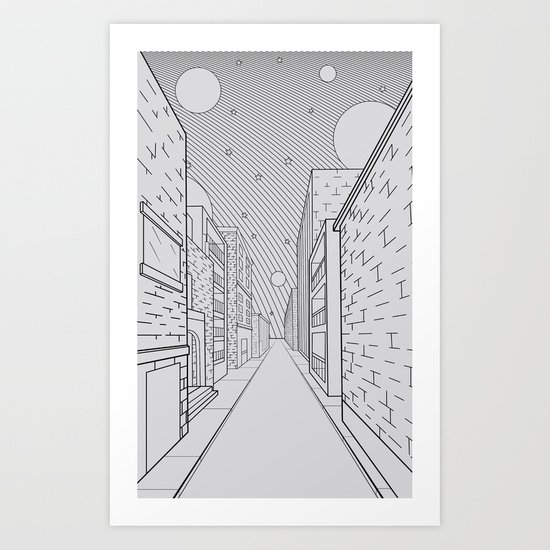 Cosmos City Art Print
