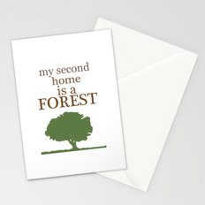 My Second Home is a Forest Stationery Cards