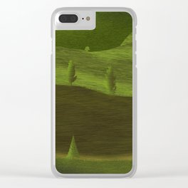 Green fields in spring Clear iPhone Case