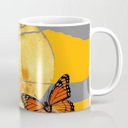 MOON & MONARCH BUTTERFLIES DESERT SKY ABSTRACT ART Coffee Mug
