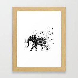 Save the Elephants fading away Framed Art Print