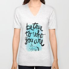 Be True Unisex V-Neck