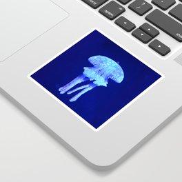 Blue jellyfish Sticker