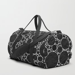 Modern Black and WHITE Textured Bubble Design Duffle Bag