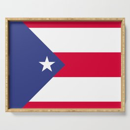 Puerto Rico flag emblem Serving Tray