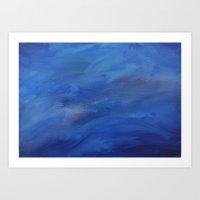 Seascape painting Art Print