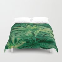 marijuana Duvet Covers featuring Marijuana Plants  by Limitless Design