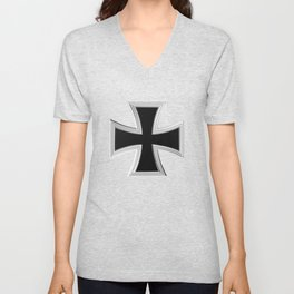 Teutonic cross Unisex V-Neck