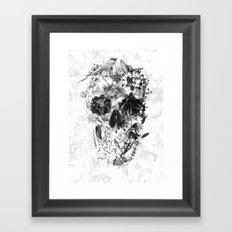 New Skull Light B&W Framed Art Print
