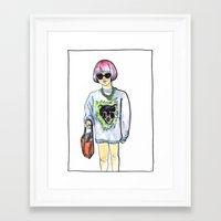 sweater Framed Art Prints featuring Sweater by Juliette Dudley