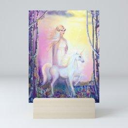 Princess and Unicorn Mini Art Print