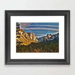 Yosemite Mountains, Yosemite National Park, California Framed Art Print