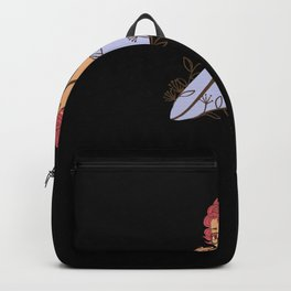 Wild Girl Floral Woman With Flowers Redhead Backpack