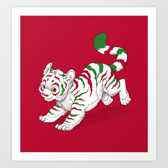 Candy Tiger Art Print