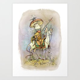 Swampking Art Print