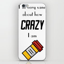 Carrie Fisher Crazy Quote iPhone Skin