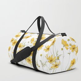 Yellow Cosmos Flowers Duffle Bag
